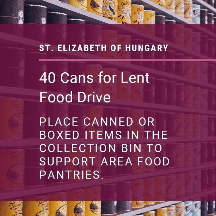 Lent  40 Cans